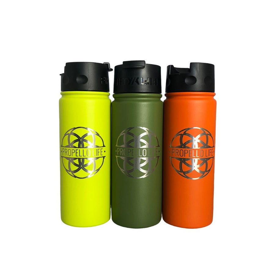 Propello Life 18oz Stainless Steel Water Bottles for our premium natural supplements multi color2