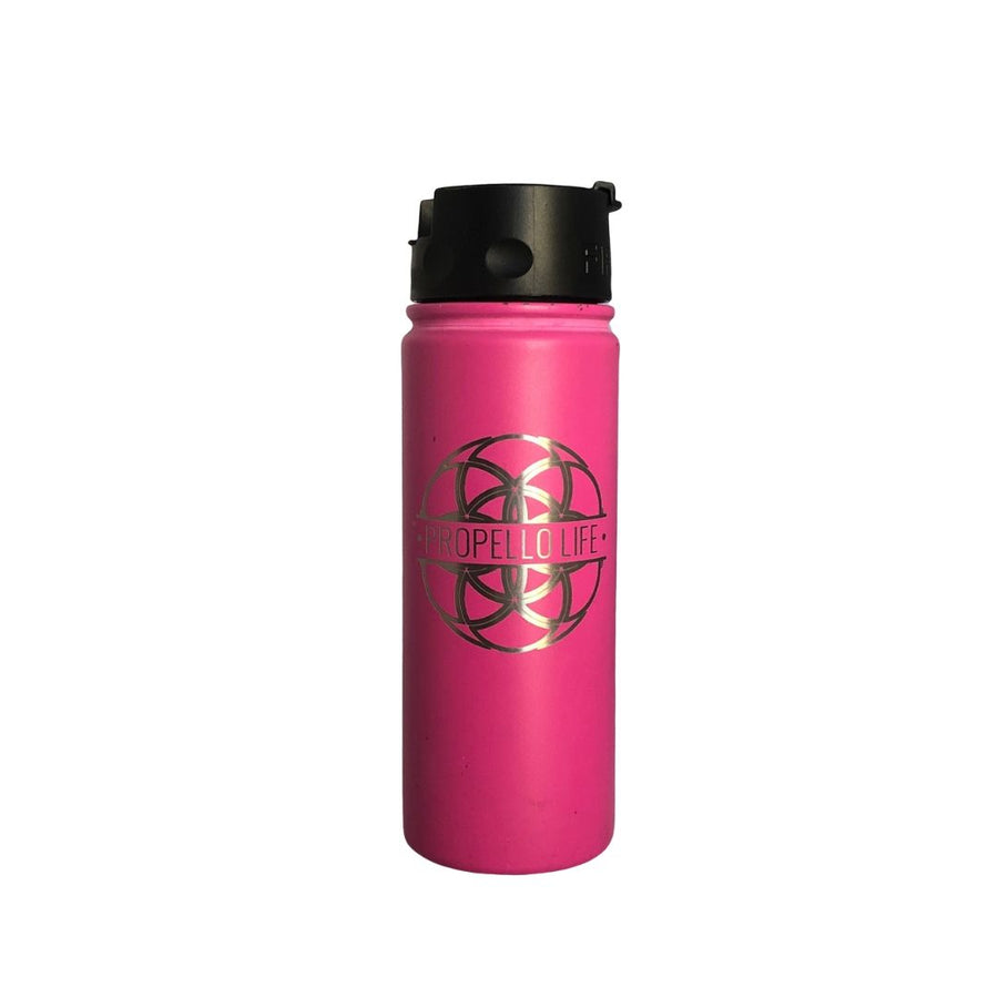 Propello Life 18oz Stainless Steel Water Bottles for our premium natural supplements pink