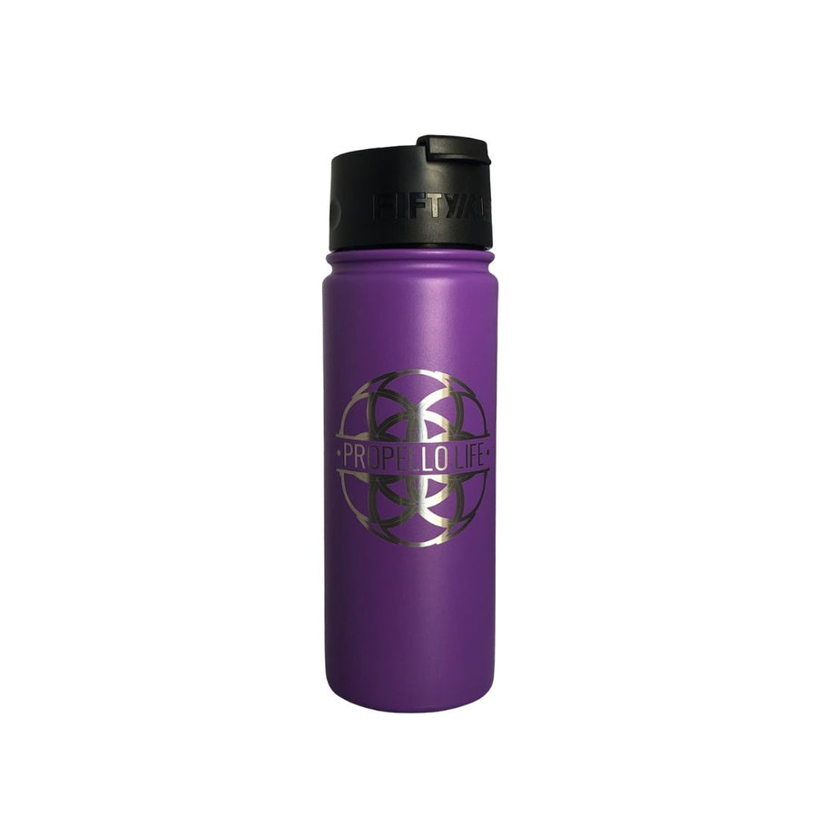 Propello Life 18oz Stainless Steel Water Bottles for our premium natural supplements purple