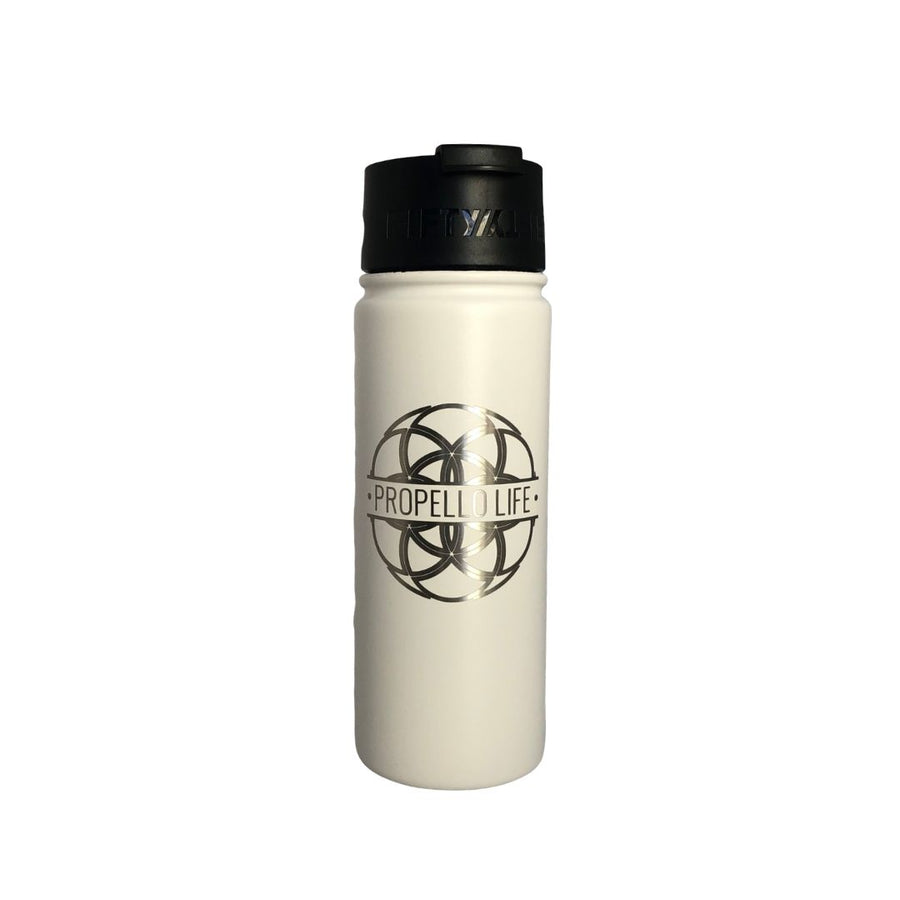 Propello Life 18oz Stainless Steel Water Bottles for our premium natural supplements white