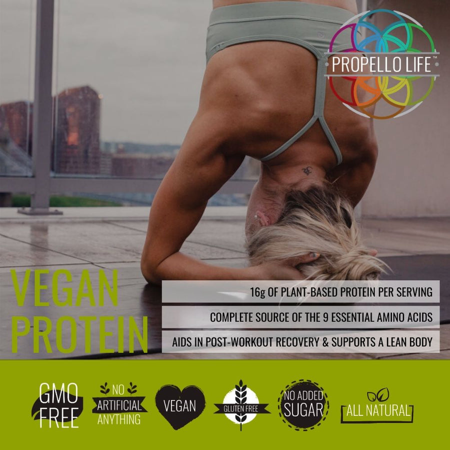 Propello Life Vegan Protein is the best plant based protein and is non-gmo