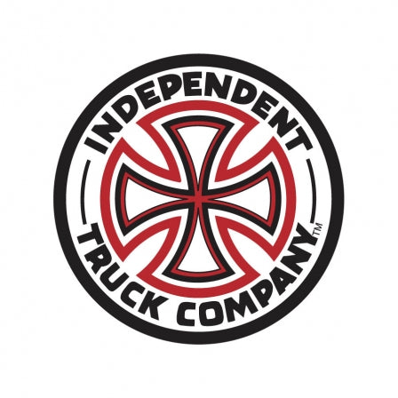 Independent Red/White Cross Vinyl Sticker