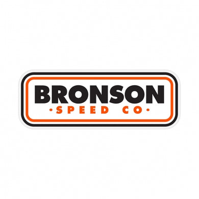Bronson Patch Logo Clear Mylar Sticker