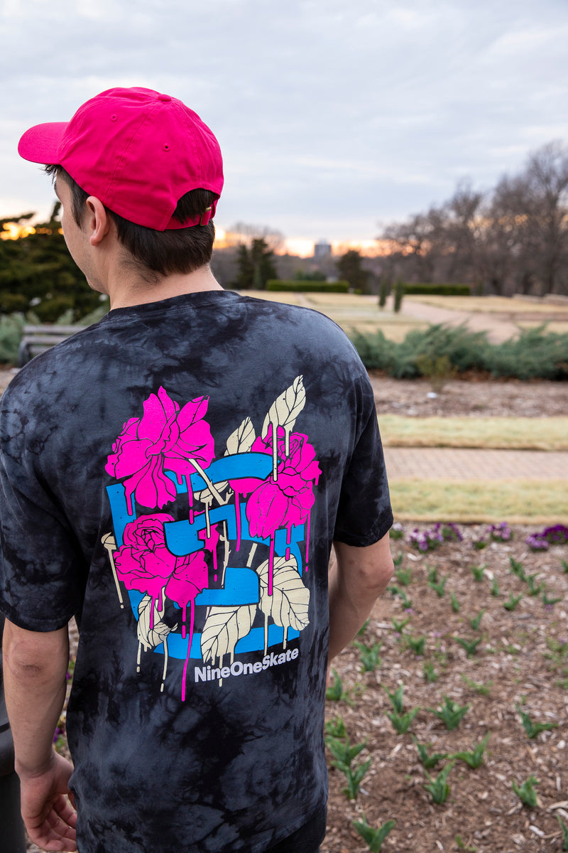 "Nine One Skate ""In Bloom"" Drippy Series Tee"