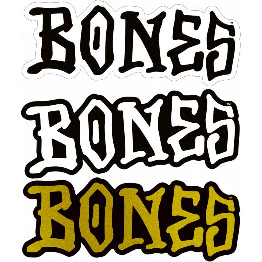Bones Logo Sticker Medium
