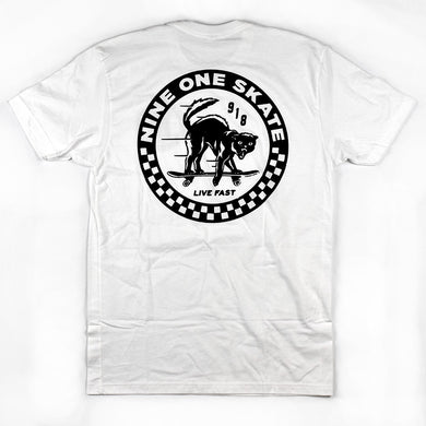 Nine One Skate Live Fast Cat Tee