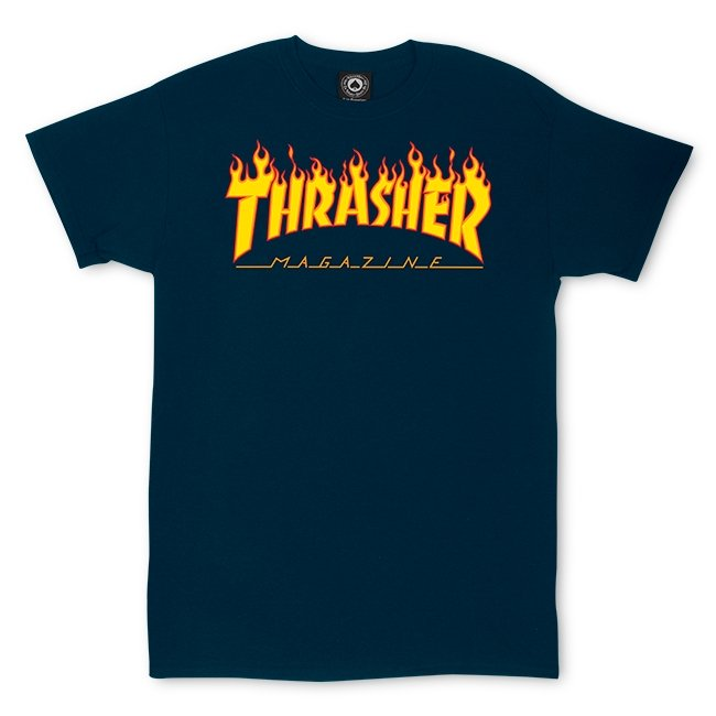 Thrasher Magazine Flame Tee Navy