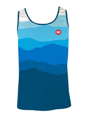 Altitude & The Rising Sun Men's Running Singlet by Hill Killer