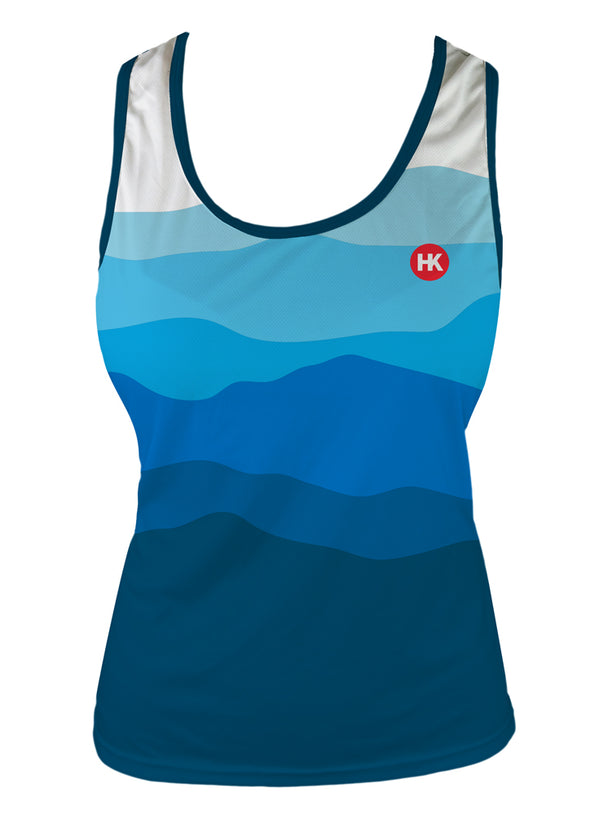Altitude & The Rising Sun Women's Running Singlet by Hill Killer