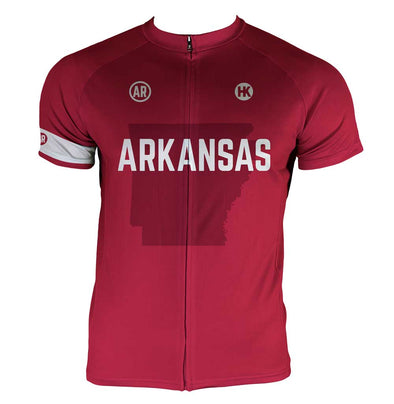 Arkansas Men's Club-Cut Cycling Jersey by Hill Killer