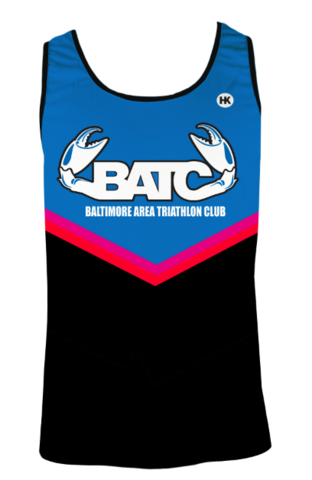 Baltimore Area Triathlon Club Running Singlet Custom BATC by Hill Killer