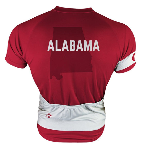 Alabama Men's Club-Cut Cycling Jersey by Hill Killer