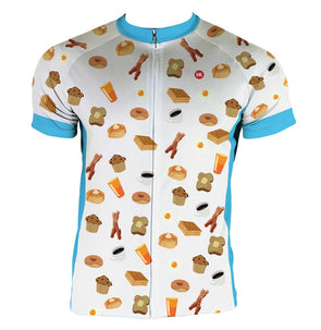 Breakfast Club Men's Club-Cut Cycling Jersey by Hill Killer