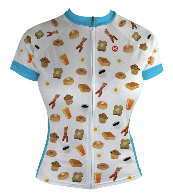 Breakfast Club Women's Club-Cut Cycling Jersey by Hill Killer