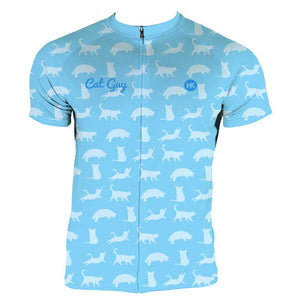 Cat Guy Men's Club-Cut Cycling Jersey by Hill Killer
