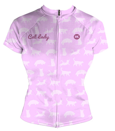 Cat Lady Women's Club-Cut Cycling Jersey by Hill Killer