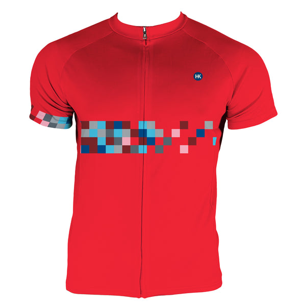 Color Coded Men's Summer Light Club-Cut Cycling Jersey by Hill Killer