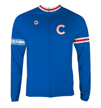 Chicago 108 Men's Thermal-Lined Cycling Jersey by Hill Killer