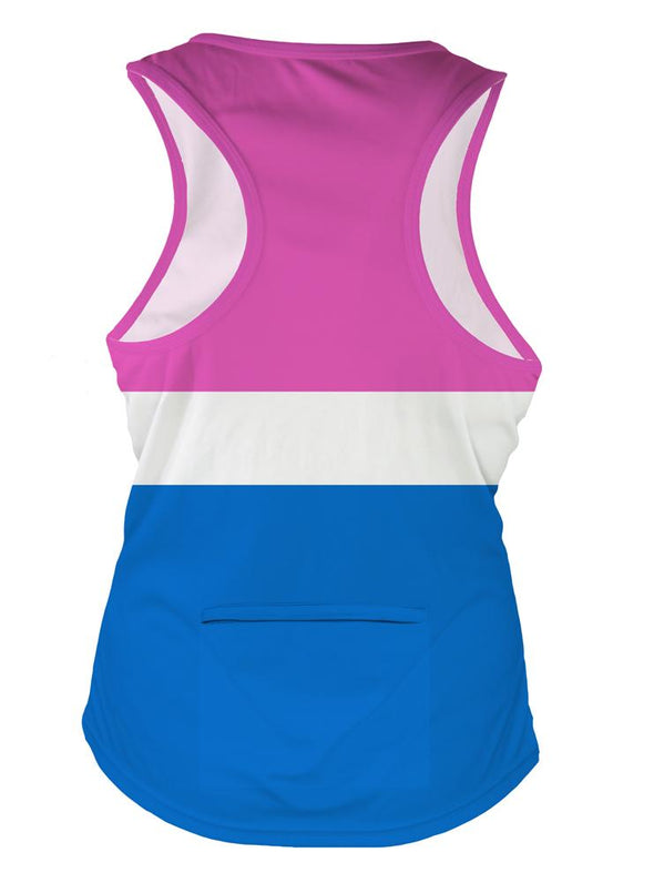 Cotton Candy Women's Crossover Racerback Tank Top by Hill Killer