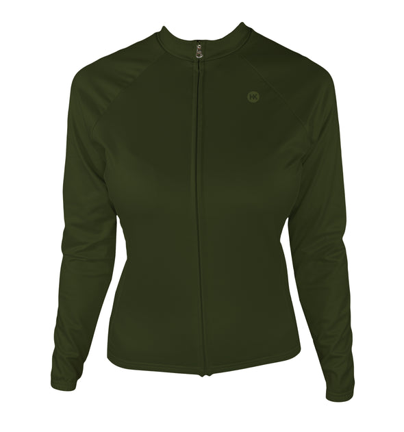 Crocodile (Preorder) Women's Thermal-Lined Cycling Jersey by Hill Killer
