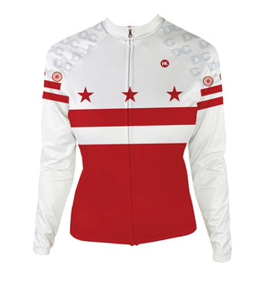 DC Flag Women's Thermal-Lined Cycling Jersey by Hill Killer