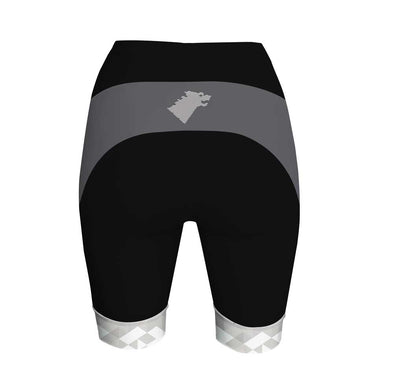 Direwolf Grey Women's Performance Cycling Shorts by Hill Killer