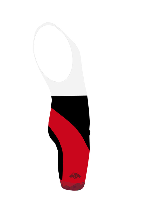 Dragon Red Men's Performance Cycling Bibs by Hill Killer