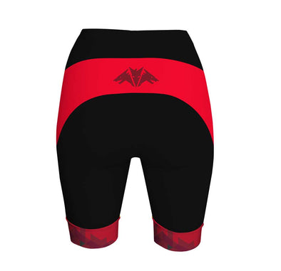 Dragon Red Women's Performance Cycling Shorts by Hill Killer