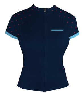 Dress Blue Women's Club-Cut Cycling Jersey by Hill Killer