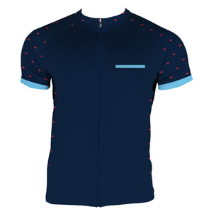 Dress Blue Men's Club-Cut Cycling Jersey by Hill Killer