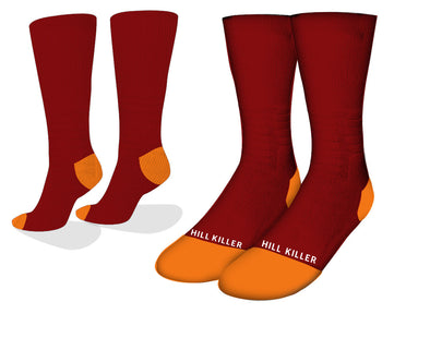 Maroon Essential Cycling Socks