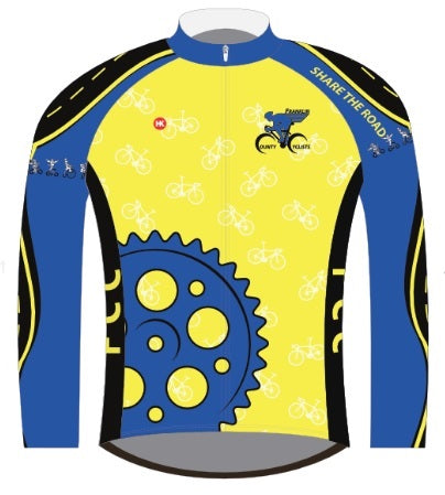 Franklin County Cyclists Thermal Jersey Custom Thermal-Lined Cycling Jersey by Hill Killer
