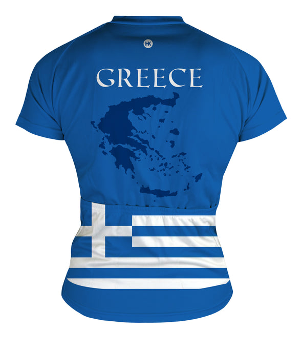 Greece Women's Club-Cut Cycling Jersey by Hill Killer