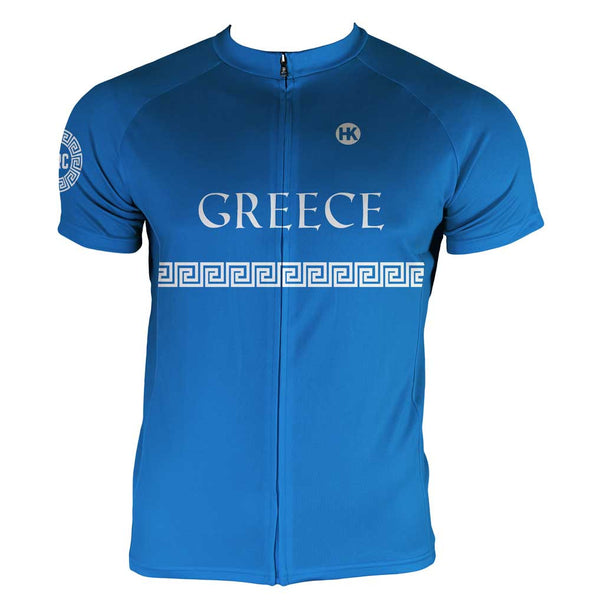 Greece Men's Club-Cut Cycling Jersey by Hill Killer