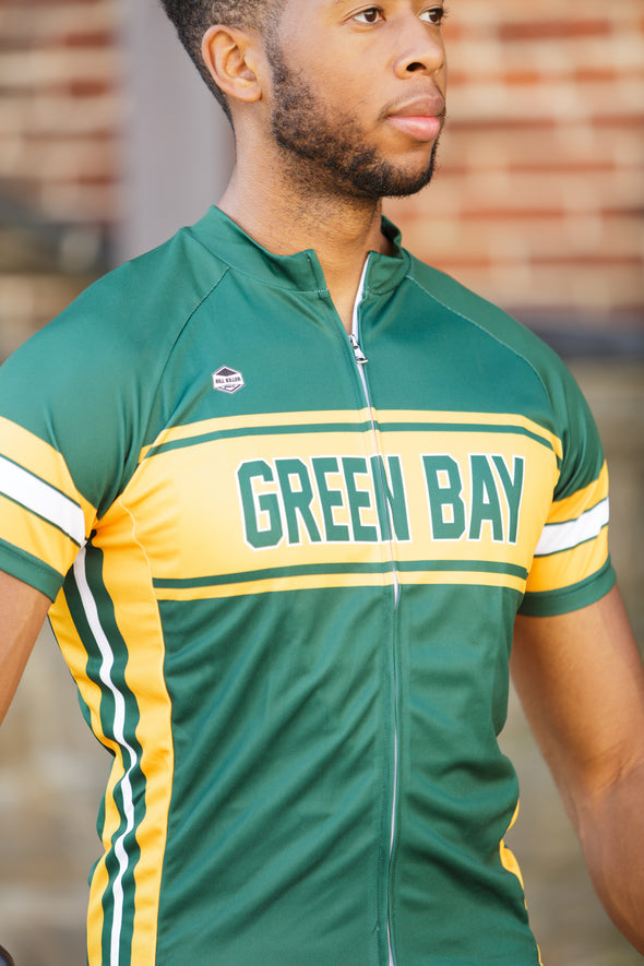 Green Bay Men's Club-Cut Cycling Jersey by Hill Killer