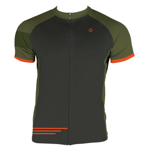 Gunmetal & Green Men's Slim Fit Race Cut Jersey by Hill Killer