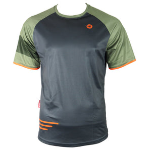 Gunmetal & Green Men's Mountain Bike Jersey by Hill Killer