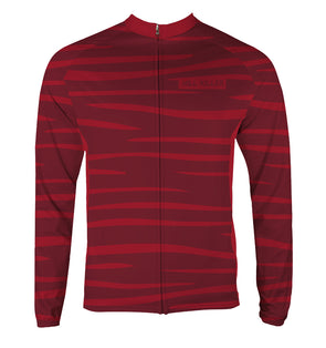 Hellcat Blood Moon Men's Thermal-Lined Cycling Jersey by Hill Killer