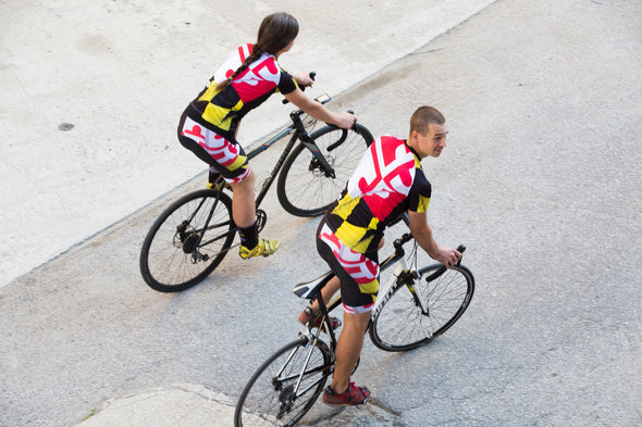 Pride of Maryland Men's Club-Cut Cycling Jersey by Hill Killer