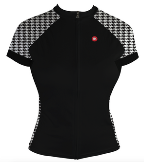 Houndstooth Women's Club-Cut Cycling Jersey by Hill Killer