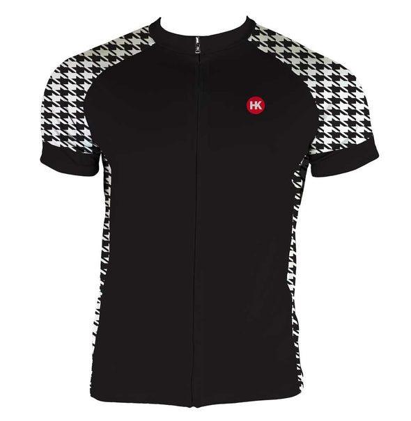 Houndstooth Men's Club-Cut Cycling Jersey by Hill Killer
