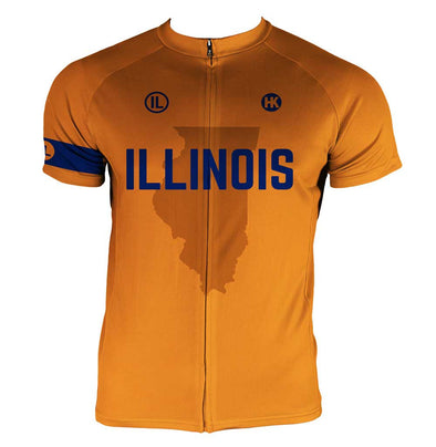 Illinois Men's Club-Cut Cycling Jersey by Hill Killer