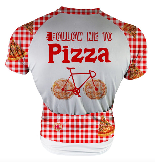 Follow me to Pizza! Men's Club-Cut Cycling Jersey by Hill Killer
