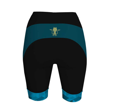 Kraken Blue Women's Performance Cycling Shorts by Hill Killer