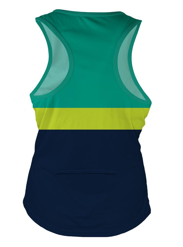 Lime Punch Women's Crossover Racerback Tank Top by Hill Killer