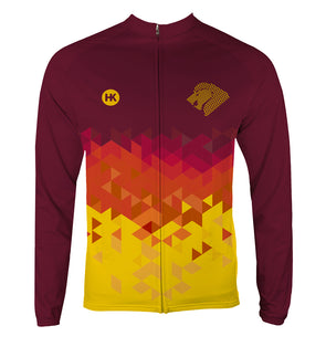 Lion Gold Men's Thermal-Lined Cycling Jersey by Hill Killer