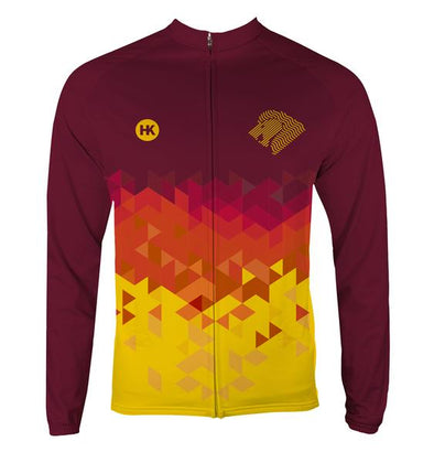 Lion Gold Women's Thermal-Lined Cycling Jersey by Hill Killer