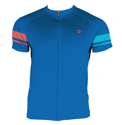 Living Coral Men's Club-Cut Cycling Jersey by Hill Killer
