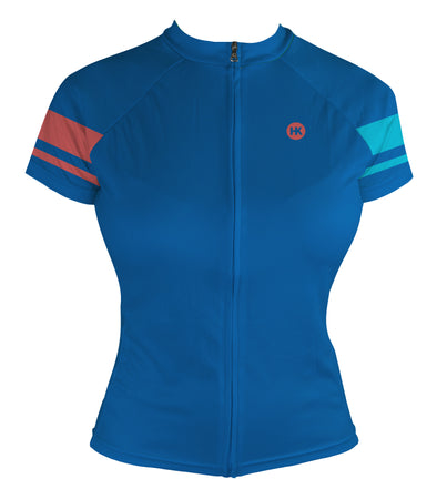 Living Coral Women's Club-Cut Cycling Jersey by Hill Killer
