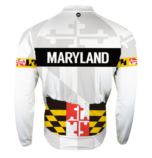 Maryland 2.0 Remix Men's Thermal-Lined Cycling Jersey by Hill Killer